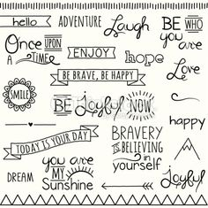 Clipart vectoriel : Vector Collection of Hand Inspirational Drawn Words and Phrases