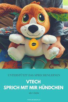 Wir stellen euch das Lernspielzeug Sprich mit mir Hündchen von VTech für Kleinkinder ab 1 Jahr vor! Teddy Bear, Toys, Animals, Meaningful Gifts, New Words, Language Development, Cute Dogs, Gifts For Children, Toddlers