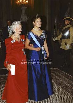Crown Princess Victoria wore this tiara for a dinner during the State Visit from Latvia in October 1995.