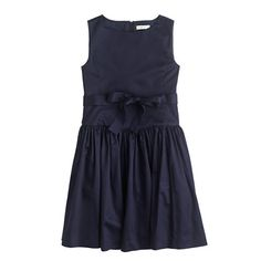 Girls' sateen bow dress is great for holiday parties!