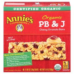 Annie's Homegrown Organic PB & J Granola Bars 6 ct