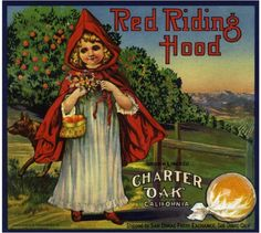 Charter Oak Red Riding Hood Orange Crate Label Print
