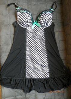 Kup mój przedmiot na #vintedpl http://www.vinted.pl/damska-odziez/inne-ubrania/10487527-bielizna-nocna-krata-czarna-sexy-push-up