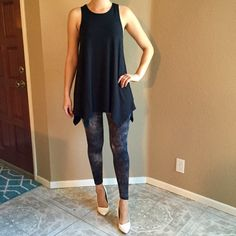 Grunge Leggings Grunge Leggings. Look super cute with a tunic or long sweater. More sheer so best worn with a longer top. Never worn. Available S-M-L. No Paypal. No trades. 10% discount on all bundles made with the bundle feature. No offers will be considered unless you use the make me an offer feature.      Please follow  Instagram: BossyJoc3y  Blog: www.bossyjocey.com Pants Leggings