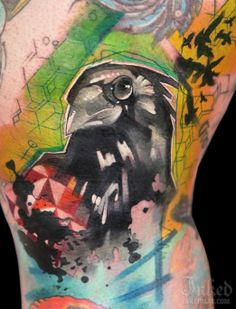 Beautiful black bird tattoo by Ivana Belakova #InkedMagazine #blackbird #tattoo #tattoos #inked #ink #BlackBirdSingingInTheDeadOfNight