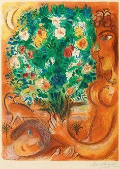 Marc Chagall, Femme au bouquet from: Nice et la Côte D'Azur