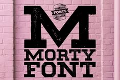Ad: Morty - 2 vintage fonts by Leitmotif on Morty is a set of 2 hand-drawn fonts inspired by vintage ads, old newspapers and retro sign painting. Every lowercase letter has three Fancy Fonts, All Fonts, Vintage Fonts, Vintage Ads, Alphabet, Slab Serif Fonts, Hand Drawn Fonts, Old Newspaper, Lettering