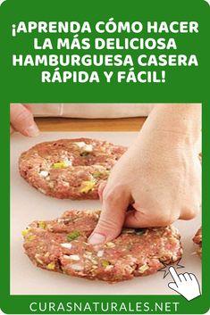 """""""Aprenda cómo hacer hamburguesa casera de una manera fácil. Aprender cómo hacer hamburguesa casera es fundamental para tener una alimentación más sana y rica en proteínas. Compruebe el paso a paso. #beneficios de la hamburguesa casera #cómo hacer hamburguesa casera #hamburguesa casera #receta de hamburguesa casera"""""""