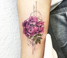 Peonies tattoo by Eva Krbdk