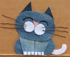 Diy Crafts - Little+Birdie+Crafts+-+Denim+Collection+ - maallure Diy Jeans, Recycle Jeans, Artisanats Denim, Denim Art, Jean Crafts, Denim Crafts, Fabric Crafts, Sewing Crafts, Sewing Projects