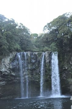 Cheonjiyeon Waterfall (천지연 폭포), Jeju Island, South Korea