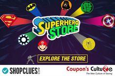 #Shopclues #Coupons Superhero Store : Shop for Men's #Superhero T-shirts. #Shop Now