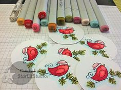 Great copic coloring using papertreyink Christmas stamp!