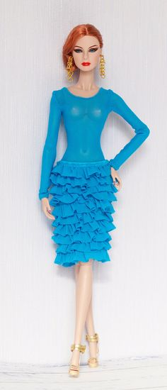 Turquoise outfit for Fashion Royalty Nu face Poppy by olgaomi