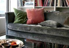Grey velvet couch!!! <3