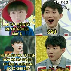 TFBOYs quotes Funny Blogs, Funny Stories, Funny Cat Photos, Funny Pictures, Troll, Funny Good Morning Memes, Manga Detective Conan, Funny Comics, Funny Moments