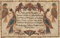 Birth and Baptismal Certificate (Geburts und Taufschein) for a son of Johannes Fleischer - Fraktur