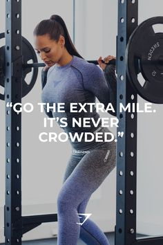 """Go the extra mile. It's never crowded."" #motivation #gymshark"