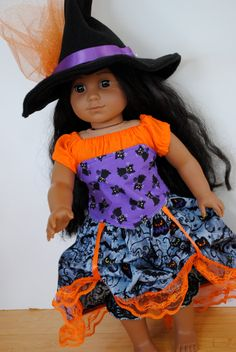 Steampunk Witch Costume for 18 Inch Doll like American Girl