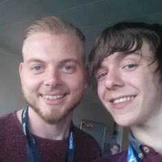 "Fraser on Instagram: ""Met @instasquiddy! Was nice talking to him about our panel tomorrow:) #minecon2015"""