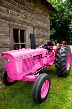 The perfect Valentines Day gift for the self reliant woman, a pink John Deere!
