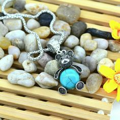 Teddy Bear Turquoise Adjustable Necklace New Brand New Bundle & save up to 30 % OFF No PayPal No Trade Hypoallergenic Nickel Free Great for Sensitive Skin Adjustable Necklace zdazzled Jewelry Necklaces