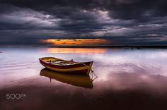 The lonely Boat… by BourasPanagiotis Lonely, Boats, My Photos, Celestial, Mountains, Sunset, Landscape, Nature, Photography