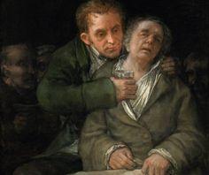 Fragmento del autorretrato de Goya con el doctor arrieta. Cuadro del Instituto de Arte de Mineápolis.