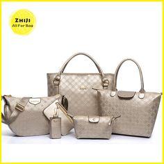 Bagoddess Beauty New Arrivals Casual Six-Pieces Handbag Shoulder Crossbody  Key Case Purse Tote Bagoddess. Allforbag · Bag Sets 8d8cb2f578106