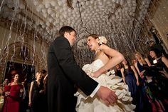 Love the balloon ceiling - wants to do a nighttime balloon release! Wedding Reception, Our Wedding, Wedding Venues, Wedding Photos, Reception Ideas, Wedding Stuff, Balloon Ceiling, Balloon Columns, Ceiling Draping