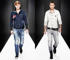 (4a) Slim Tailor Jacket & 5620 3D Super Slim Denim Jeans - (4b) Ranch Jacket - Arc 3D Slim Jeans - G-Star RAW 2013 Spring Summer Mens Runway Collection