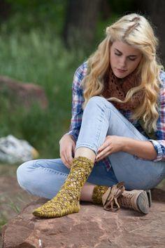 Lace and crochet socks! Bracken Socks Rock