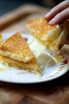 Honey Truffle Grilled Cheese. #food #sandwiches #lunch