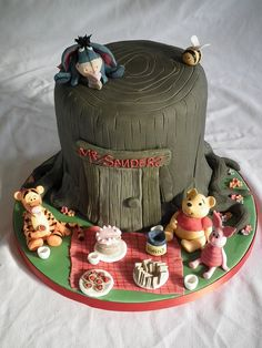 Winnie the Pooh cake by Cakes by Kerry, via Flickr