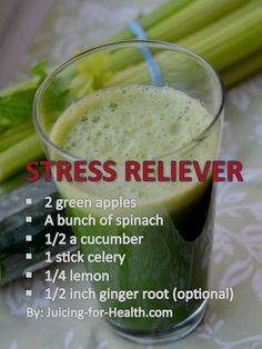 Stress Relief Detox Juice Drinks For more smoothie information, click the link. Healthy Juice Recipes, Juicer Recipes, Healthy Detox, Healthy Juices, Healthy Smoothies, Healthy Drinks, Cleanse Recipes, Easy Detox, Drink Recipes