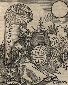 an engraving of an astronomer by albrecht dürer, from the title page of messahalah, de scientia motus orbis picture on VisualizeUs Albrecht Durer, Ant Drawing, A4 Poster, Illustrations, Art Database, Gravure, Sacred Geometry, Tarot, Printmaking