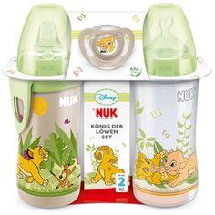 ღ♥NUK LION KING♥ღ gorgeous 1 bottle 1 active cup 1 soother present/set silicone