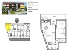 App. 1 - Soggiorno con angolo cottura, camera, bagno, loggiato, terrazza.   Comune di Rio Marina (LI), loc. Cavo, Isola d'Elba, Toscana.