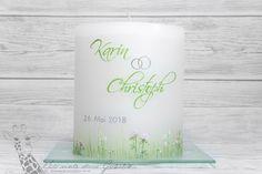 #Hochzeitskerze   100 % HANDGEMALT #trauung #hochzeit #kerze #candle #wedding  © Sigrid Kiesenhofer Pillar Candles, Wedding Day, Craft, Ideas, Taper Candles, Candles