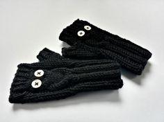 Fingerless Gloves Owl for Babies up to 18 Months von frostpfoetchen