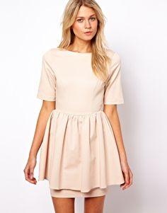 $27.85 ASOS Skater Dress With Peplum Skirt