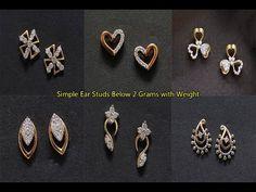 Cute Stud Earrings, Kids Earrings, Baby Earrings, Small Earrings, Diamond Earrings Indian, Diamond Earing, Pearl Necklace Designs, Gold Earrings Designs, Gold Bracelet For Girl