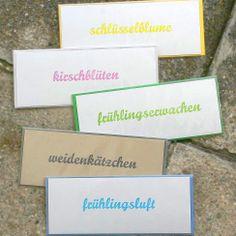 frühlingskarten letterpress Letterpress, Place Cards, Place Card Holders, Letterpress Printing
