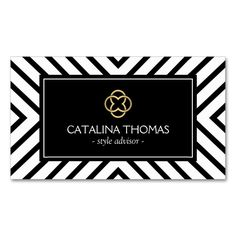 Retro Mod Black and White Pattern Gold Clover Logo Double-Sided Standard Business Cards (Pack Of 100). This great business card design is available for customization. All text style, colors, sizes can be modified to fit your needs. Just click the image to learn more!