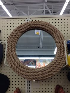 Vintage looking rope mirror. I could make this?