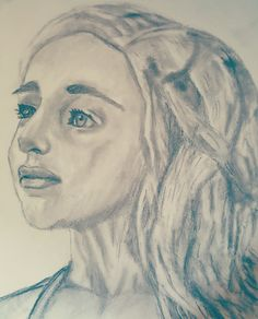 Portrait of Danearys Targaryen Game Of Thrones Artwork, Portrait Art