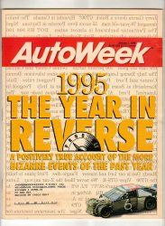 AutoWeek Car Magazine January 1 1996 Stock NASCAR Racing Vintage