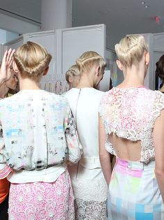 backstage at Preen Spring 2012