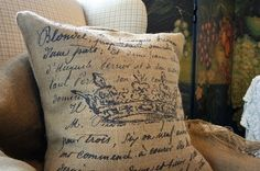 french document pillow