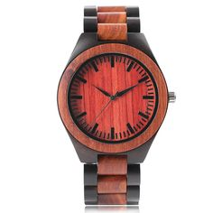 Deluxe Men Full Wooden Watch Handmade Mahogany with Black Wood Bangle Analog Business Male Quartz Wristwatch Luxury Gifts Clock Wooden Man, Wooden Watches For Men, Fashion Watches, Men's Watches, Unique Watches, Wrist Watches, Black Wood, Luxury Gifts, Bracelets For Men